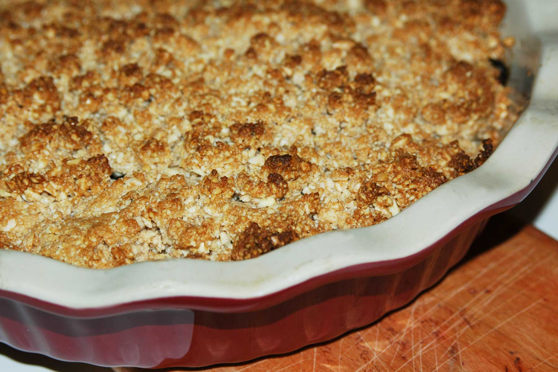 gluten-free, grain-free apple crisp